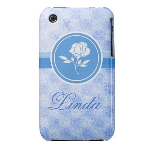 Blue Rose customizable, Iphone4s case