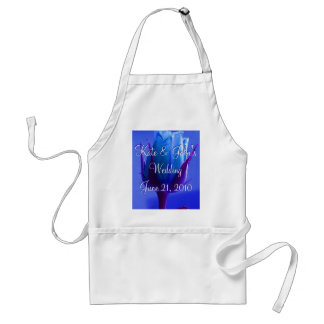 Blue Rose Delight Adult Apron