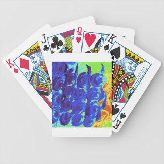 Blue Rose Design Bicycle Playing Cards