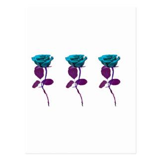Blue Rose Design - Modern Art Postcard