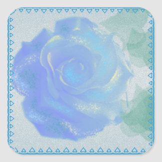 Blue Rose design Square Sticker