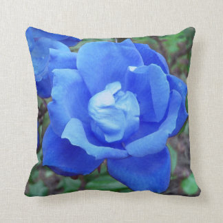 Blue Rose Digital Manipulation Throw Cushions