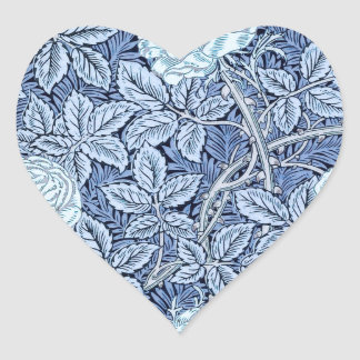 Blue Rose Dream Heart Stickers