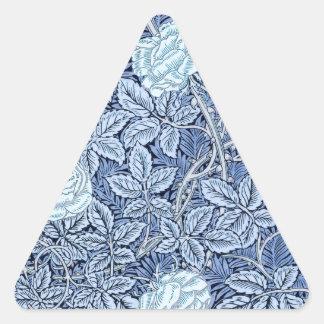 Blue Rose Dream Triangle Sticker