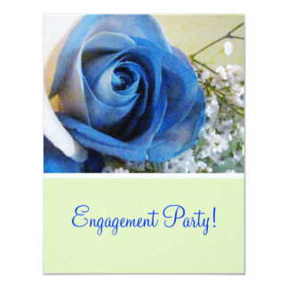 Blue Rose Engagement Party Invitation
