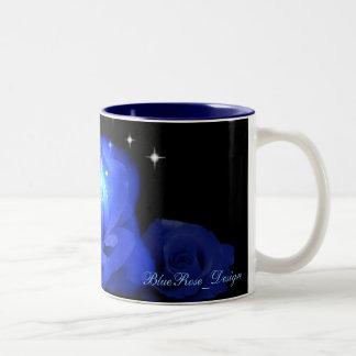 Blue Rose Floral Pattern Mug