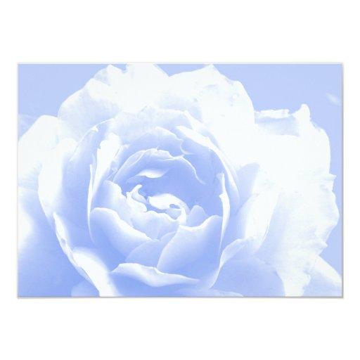 Blue Rose Floral Wedding Invitation