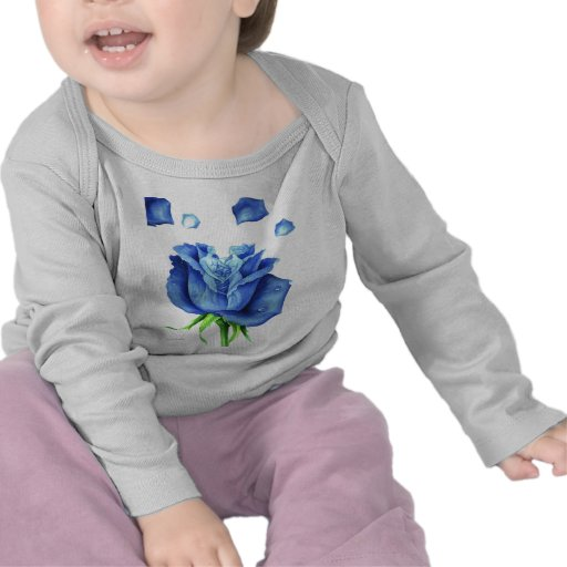 Blue Rose Flower Painting - Multi Shirt