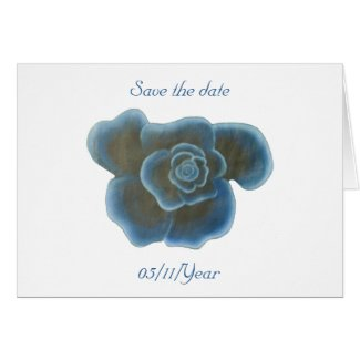 Blue Rose Flower, Save the date cards, wedding