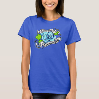 Blue Rose I Was Once A Dead Woman Christian T-Shirt