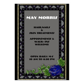 blue rose inlay business card
