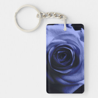 Blue rose keychain