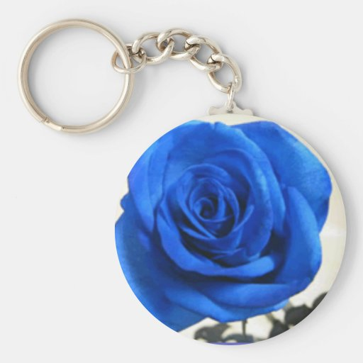 Blue Rose Keychain