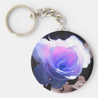 Blue rose keychains