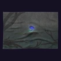 Blue Rose Kitchen Towel