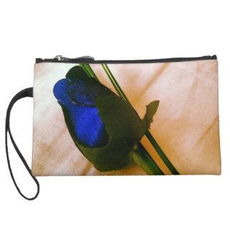 Blue Rose Mini Clutch Wristlet Purses