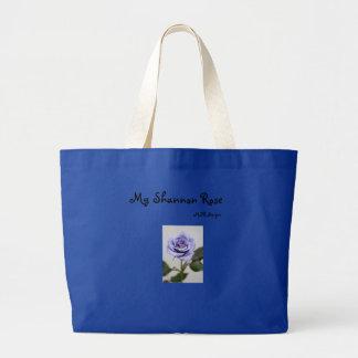 Blue Rose, My Shannon Rose, MSR designs Large Tote Bag