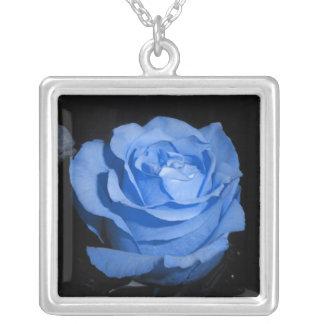 Blue Rose Necklace