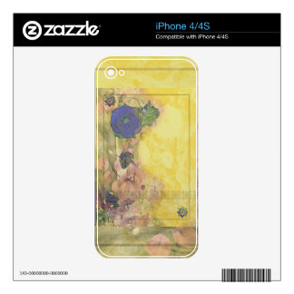 Blue Rose Nouveau Skins For The iPhone 4