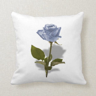 Blue Rose of Enchantment Floral Photo Throw Pillow