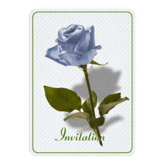 Blue Rose of Enchantment 5x7 Paper Invitation Card