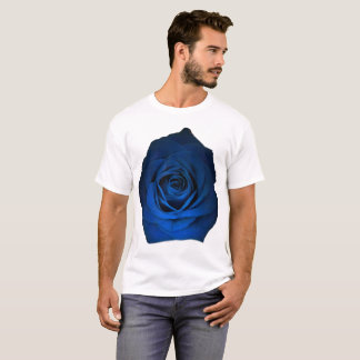 Blue Rose on White Shirt size up to 6x