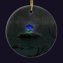 Blue Rose Ornament
