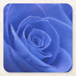Blue Rose Party Square Paper Coaster