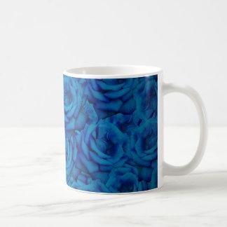 Blue Rose Pattern Coffee Mug