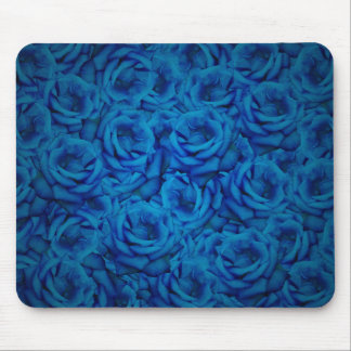 Blue Rose Pattern Mouse Pad