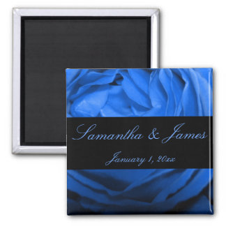 Blue Rose Personal Wedding 2 Inch Square Magnet