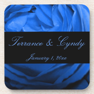 Blue Rose Personal Wedding Coaster