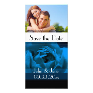 "Blue Rose  /photo  ""Save the Date"" Photo Card"