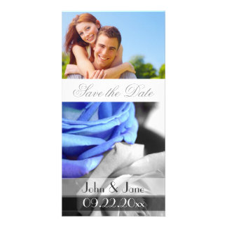 """Blue Rose /photo  """"Save the Date"""" Personalized Photo Card"""