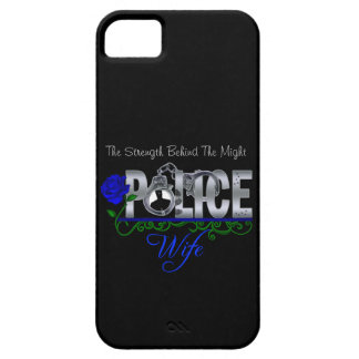 Blue Rose POLICE WIFE iPhone 5 Case