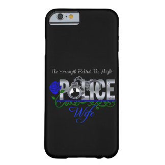 Blue Rose POLICE WIFE iPhone 6 case