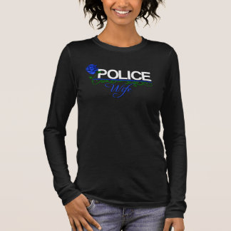 Blue Rose POLICE WIFE Long Sleeve T-Shirt