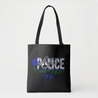 Blue Rose Police Wife Tote Bag