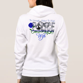 Blue Rose POLICE WIFE Zip/Hooded Fleece Sweatshirt