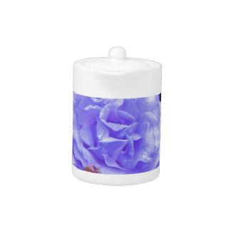 Blue Rose Porcelain Teapot