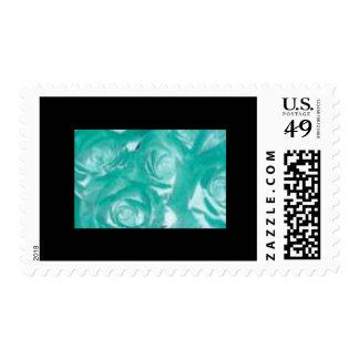 Blue Rose Postage Stamp