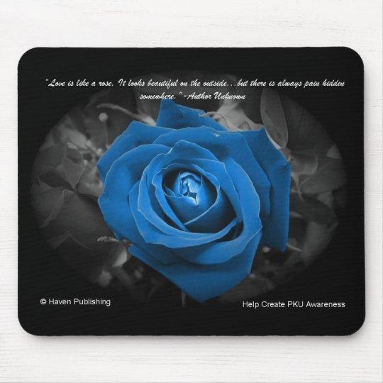Blue Rose Quote Mousepad Zazzle Com