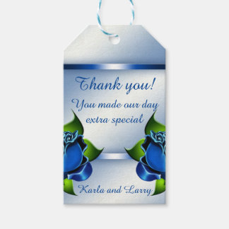 Blue Rose Reflection Gift Tags