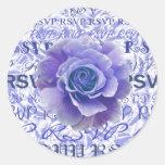 Blue Rose RSVP Sticker