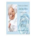 Blue rose sparkle dedication magnetic invitation