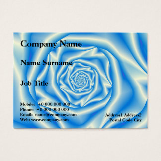 Blue Rose Spiral Chubby Business Card