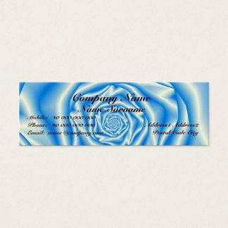 Blue Rose Spiral Skinny Business Card