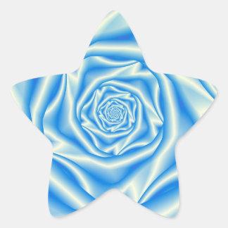 Blue Rose Spiral Sticker
