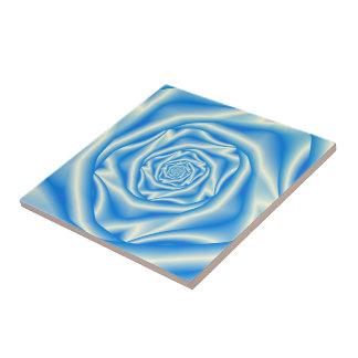 Blue Rose Spiral tile