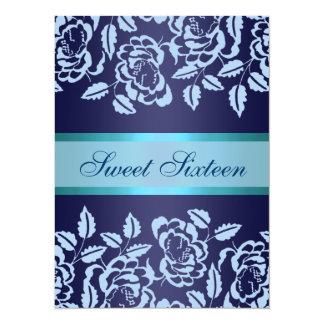 Blue Rose Sweet16 Birthday Invite
